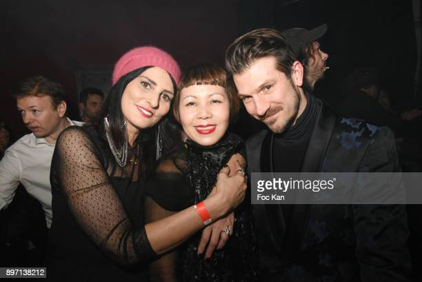 Sylvie Ortega Munos fashion designer Ken Okada and Vincent Escrive attend the 'Le Temps Retrouve' Party 2 At Les Bains In Paris on December 21 2017...