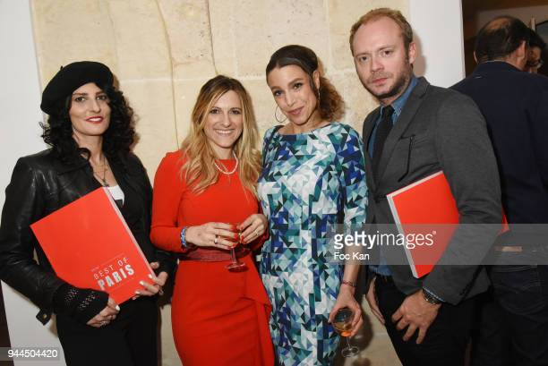 Sylvie Ortega MunosConstance Huguenin Sacha Lucas and Julien le Stum attend the 'Bel RP' 10th Anniversary at Atelier Sevigne on April 10 2018 in...