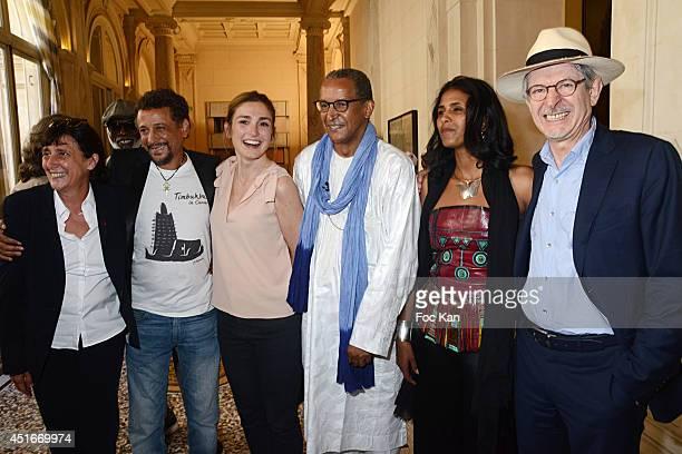 Sylvie Pialat Abel Jafri Julie Gayet Abderrahmane SissakoToulou Kiki and ClaudeEric Poiroux attend the Abderrahmane Sissako La Medaille Grand Vermeil...