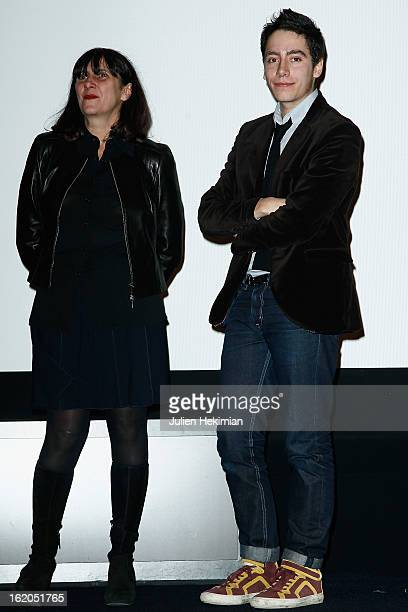 Sylvie Pialat and Antoine Pialat attend the Maurice Pialat Exhibition And Retrospective Opening at Cinematheque Francaise on February 18 2013 in...