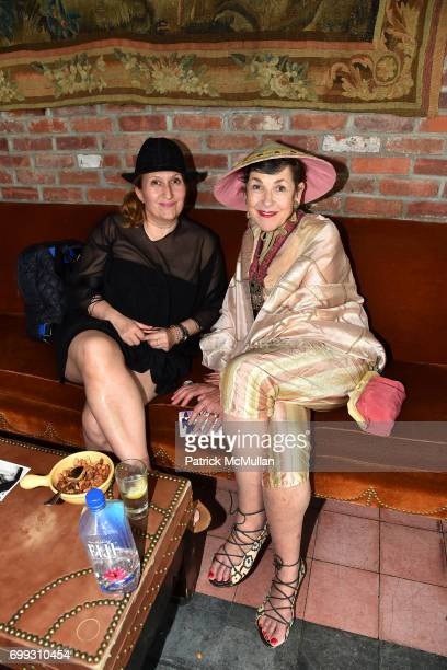 Sylvie Poujade and Tziporah Salamon attend Walt Cessna ReMemory and Tribute at Bowery Hotel on June 12 2017 in New York City