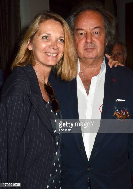 Sylvie Rostain and Gonzague Saint Bris attend the 'Montalembert Literary Awards 2013' Woman Literary Awards at Hotel Montalembert on June 18 2013 in...