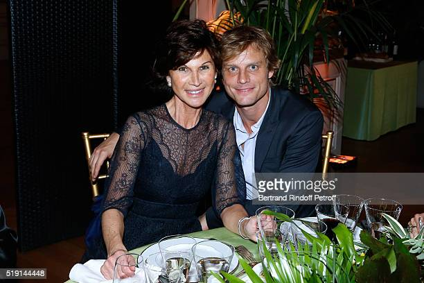 Sylvie Rousseau and Arnaud Lemaire attend the 'Societe des Amis du Musee D'Orsay' Dinner and Private tour of the Exhibition 'Le Douanier Rousseau...