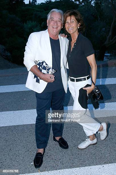 Sylvie Rousseau and Guest attend the Alex Lutz Show during the 31th Ramatuelle Festival : Day 8, on August 8, 2015 in Ramatuelle, France.