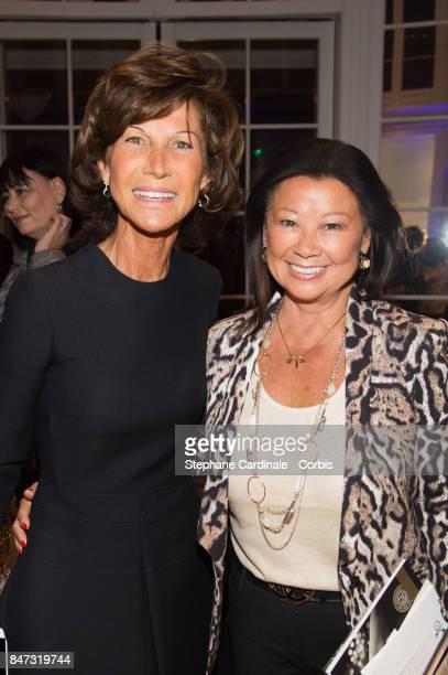 Sylvie Rousseau and Jeanne d'Hauteserre attend 'La Fete Des Vendanges' at Dior Avenue Montaigne on September 14 2017 in Paris France