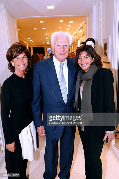 Sylvie Rousseau CEO Montaigne Comity JeanClaude Catalan and first assistant of mayor of Paris Anne Hidalgo attend 'Vendanges Montaigne 2013' At Dior...
