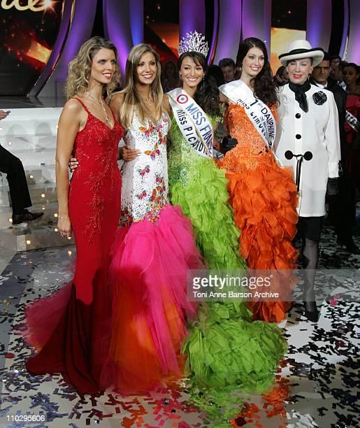 Sylvie Tellier Alexandra Rosenfeld Miss Picardie Rachel LegrainTrapani is Miss France 2007 Sophie Vouzelaud and Genevieve de Fontenay
