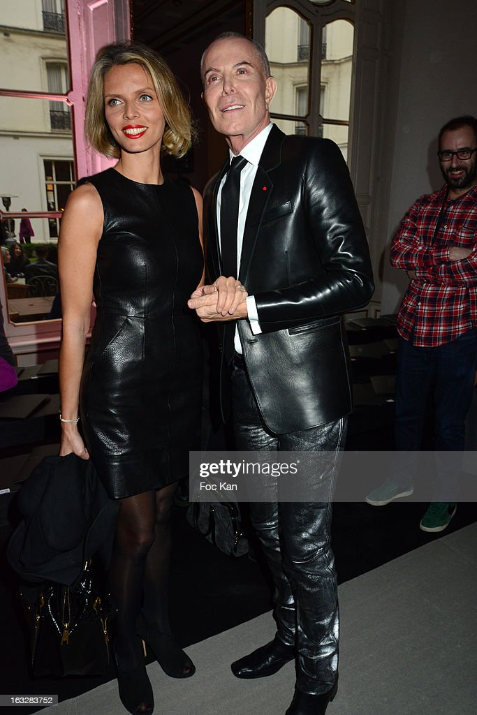 Sylvie Tellier and Jean Claude Jitrois attend the Jitrois - Front Row - PFW F/W 2013 at Hotel Saint James & Albany on March 6, 2013 in Paris, France.