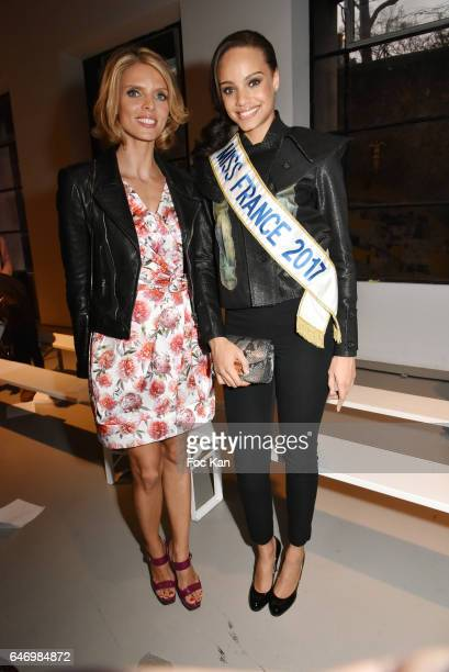 Sylvie Tellier and Miss France 2017 Alicia Aylies attend the Guy Laroche show as part of the Paris Fashion Week Womenswear Fall/Winter 2017/2018 on...