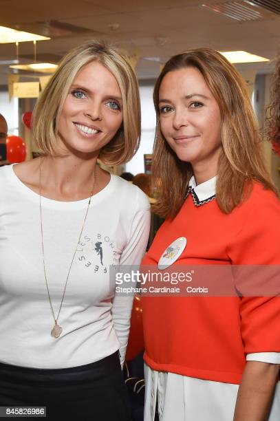 Sylvie Tellier and Sandrine Quetier attend the Aurel BGC Charity Benefit Day 2017 on September 11 2017 in Paris France