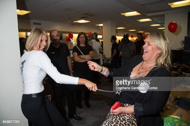 Sylvie Tellier and Valerie Damidot attend the Aurel BGC Charity Benefit Day 2017 on September 11 2017 in Paris France