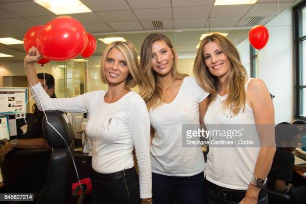 Sylvie Tellier Camille Cerf and Sophie Thalmann attend the Aurel BGC Charity Benefit Day 2017 on September 11 2017 in Paris France