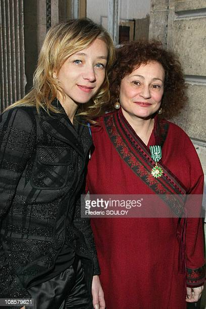 Sylvie Testud and Catherine Arditi in Paris France on March 31 2009