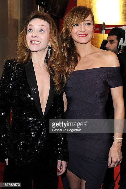 Sylvie Testud and Julie Ferrier attend the 37th Cesar Film Awards at Theatre du Chatelet on February 24 2012 in Paris France