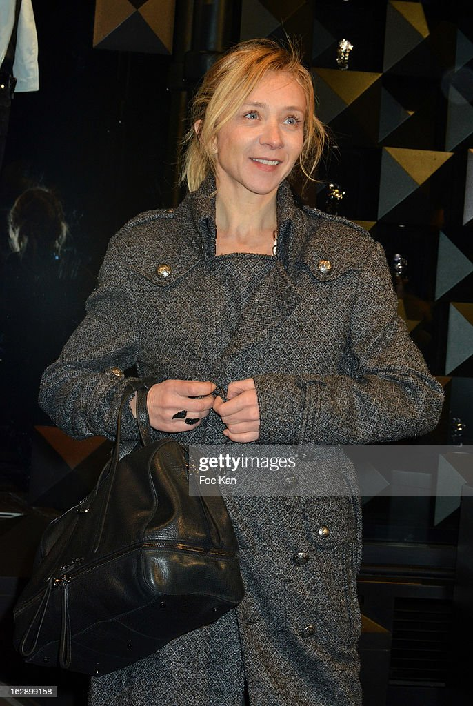 Sylvie Testud attends the opening of the Karl Lagerfeld concept store during Paris Fashion Week Fall/Winter 2013 at Karl Lagerfeld Concept Store Saint Germain on February 28, 2013 in Paris, France.