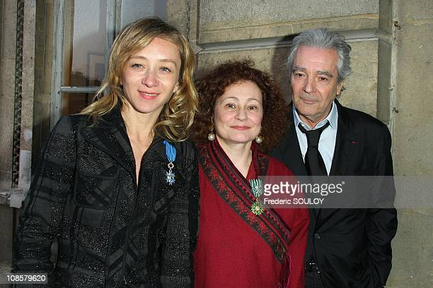 Sylvie Testud Catherine Arditi and Pierre Arditi in Paris France on March 31 2009