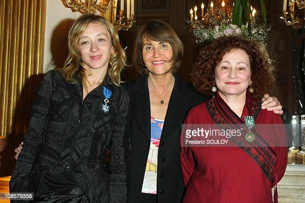 Sylvie Testud Christine Albanel and Catherine Arditi in Paris France on March 31 2009