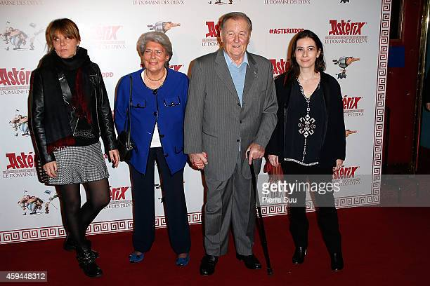 Sylvie Uderzo Ada Milani Albert Uderzo and Anne Goscinny attend the Premiere of 'Asterix Le Domaine Des Dieux' at Le Grand Rex on November 23 2014 in...
