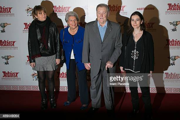 Sylvie Uderzo Ada Milani Albert Uderzo and Anne Gosciny attend the 'Asterix Le Domaine des Dieux' Premiere at Le Grand Rex on November 23 2014 in...