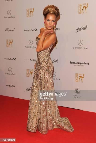 Sylvie van der Vaart arrives for the Bambi 2010 Award at Filmpark Babelsberg on November 11, 2010 in Potsdam, Germany.