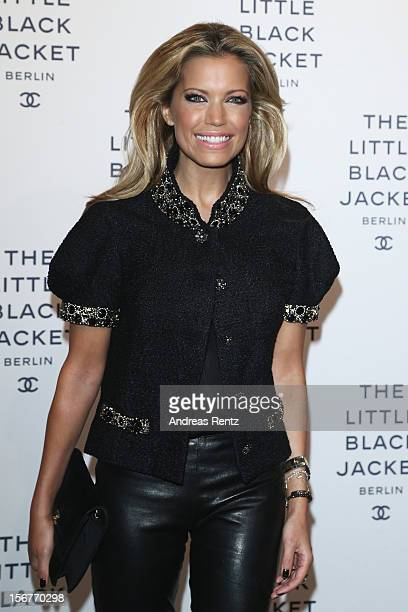 Sylvie van der Vaart attends the CHANEL 'The Little Black Jacket' Exhibition Opening by Karl Lagerfeld and Carine Roitfeld on November 20 2012 in...