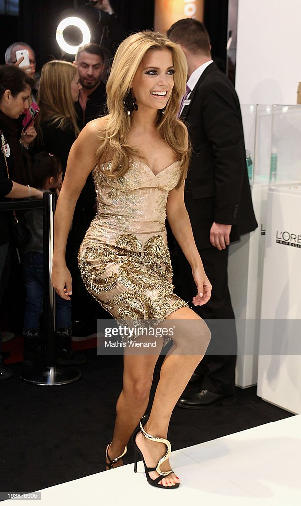 Sylvie van der Vaart attends the L'Oréal Professionnel Show at Beauty Fair Top Hair international on March 17, 2013 in Dusseldorf, Germany.