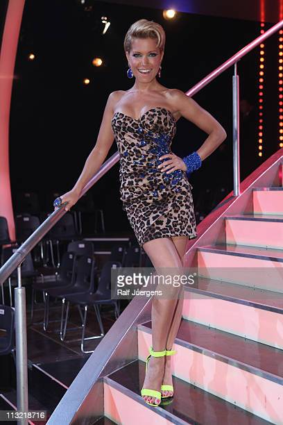 Sylvie van der Vaart poses after the 'Let's Dance' TV show at Coloneum on April 27, 2011 in Cologne, Germany.