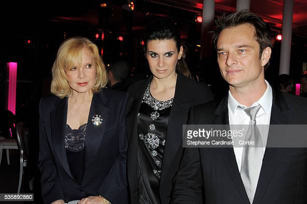 Sylvie Vartan Alexandra Pastor and David Hallyday attend Fashion Dinner For AIDS at Pavillon d'Armenonville in Paris