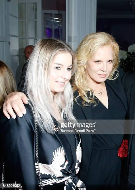 Sylvie Vartan and her daughter Darina ScottiVartan attend the Dinner after Sylvie Vartan performed at L'Olympia on September 16 2017 in Paris France