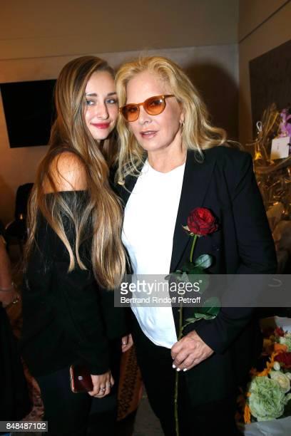 Sylvie Vartan and her granddaughter Emma Smet attend Sylvie Vartan performs at L'Olympia on September 15 2017 in Paris France