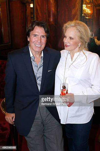 Sylvie Vartan and her husband Tony Scotti attend Sylvie Vartan triumphs in the Theater Play 'Ne me regardez pas comme ca ' performed at 'Theatre Des...