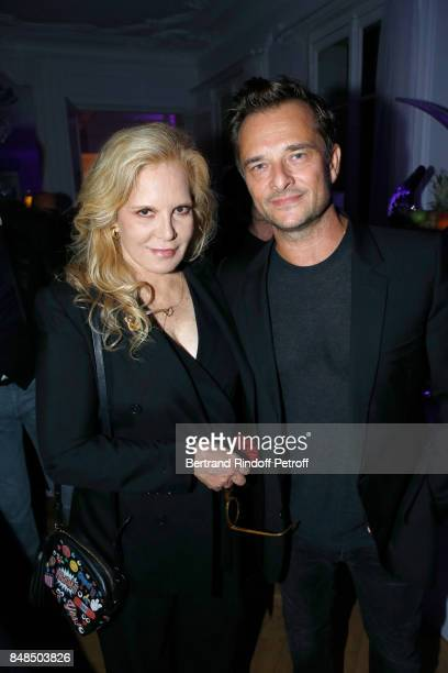 Sylvie Vartan and her son David Hallyday attend the Dinner after Sylvie Vartan performed at L'Olympia on September 16, 2017 in Paris, France.