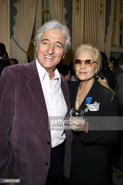Sylvie Vartan and Jean-Loup Dabadie in Paris, France on October 05, 2006.