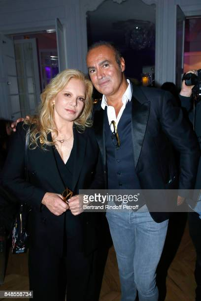 Sylvie Vartan and lawyer Roland Perez attend the Dinner after Sylvie Vartan performed at L'Olympia on September 16 2017 in Paris France