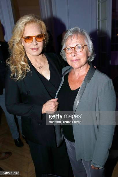 Sylvie Vartan and Sophie Rochas attend the Dinner after Sylvie Vartan performed at L'Olympia on September 16 2017 in Paris France