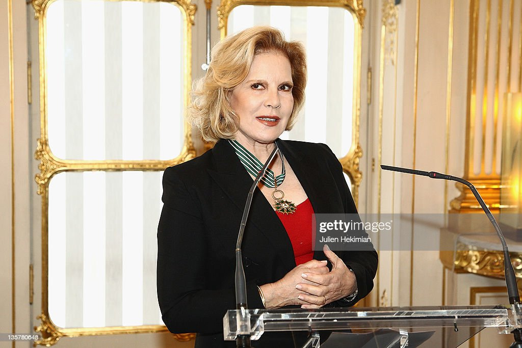 Sylvie Vartan is pictured after being awarded Commandeur des Arts et Lettres at Ministere de la Culture on December 14, 2011 in Paris, France.