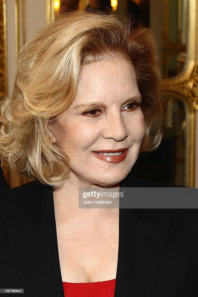 Sylvie Vartan is pictured before being awarded Commandeur des Arts et Lettres at Ministere de la Culture on December 14, 2011 in Paris, France.