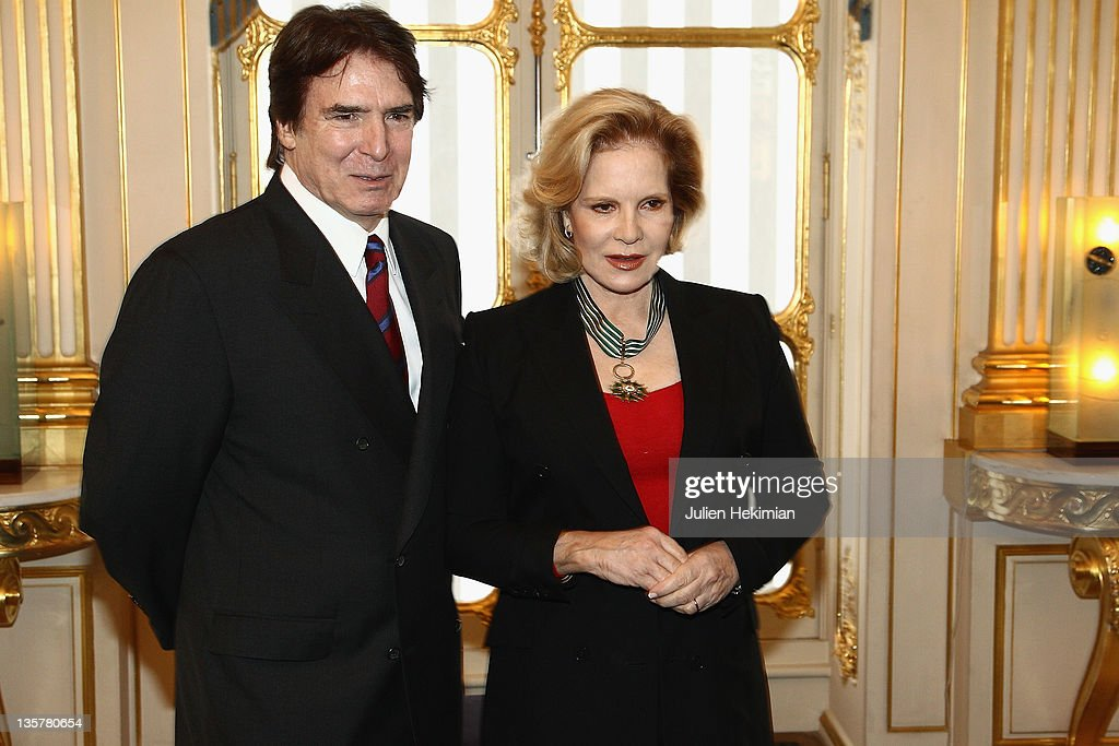 Sylvie Vartan is pictured with her husband Tony Scotti after being awarded Commandeur des Arts et Lettres at Ministere de la Culture on December 14, 2011 in Paris, France.