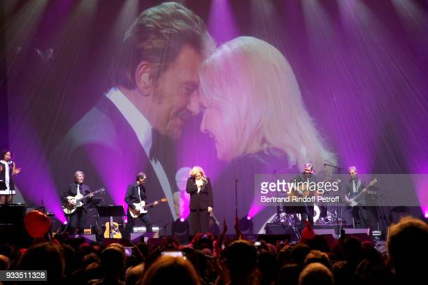 Sylvie Vartan paying tribute to Johnny Hallyday as she performs at Le Grand Rex on March 16 2018 in Paris France