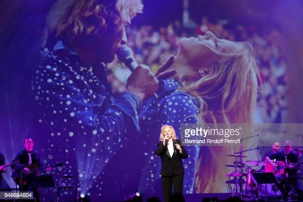 Sylvie Vartan performs at Le Grand Rex on April 14, 2018 in Paris, France.