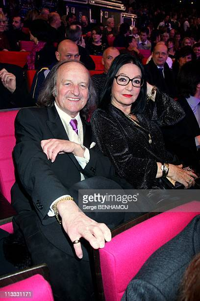 'Sylvie Vartan' Premiere At The Palais Des Congres In Paris France On February 05 2008 Nana Mouskouri and her husband