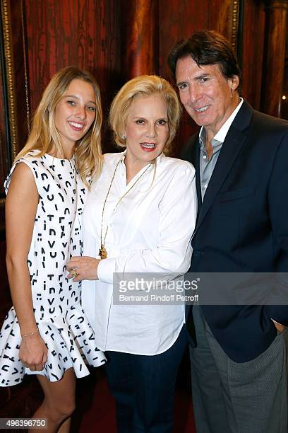 Sylvie Vartan standing between and her husband Tony Scotti and her Granddaughter Ilona Smet attend Sylvie Vartan triumphs in the Theater Play 'Ne me...