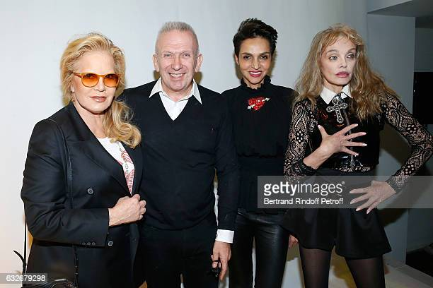 Sylvie Vartan Stylist JeanPaul Gaultier Farida Khelfa and Arielle Dombasle pose after the Jean Paul Gaultier Haute Couture Spring Summer 2017 show as...