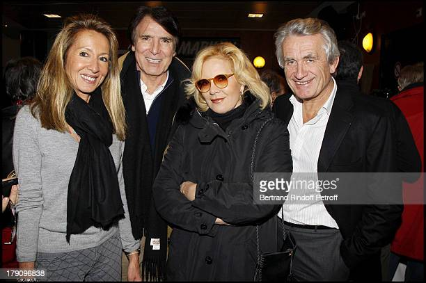 Sylvie Vartan Tony Scotti Gilbert and Nicole Coullier at The Laurent Gerra 2010 Show At Olympia In Paris