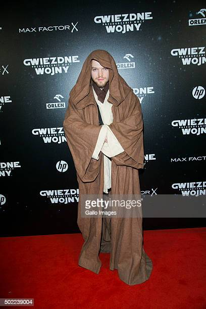 WARSAW POLAND DECEMBER 21 Sylwester Wardega attends the premiere of Star Wars The Force Awakens on December 17 2015 at the Multikino Zlote Tarasy in...