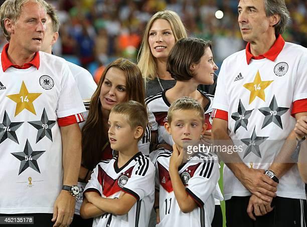 Sylwia Klose, her twins Luan Klose and Noah Klose, Sarah Brandner, girlfriend of Bastian Schweinsteiger, Kathrin Glich, girlfriend of Manuel Neuer...