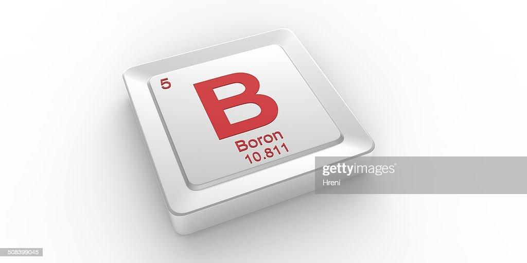 B Symbol 5 Material For Boron Chemical Element Stock Photo Getty