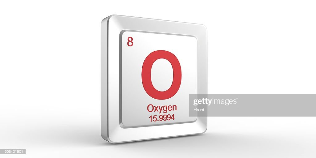 O Symbol 8 Material For Oxygen Chemical Element Stock Photo Getty