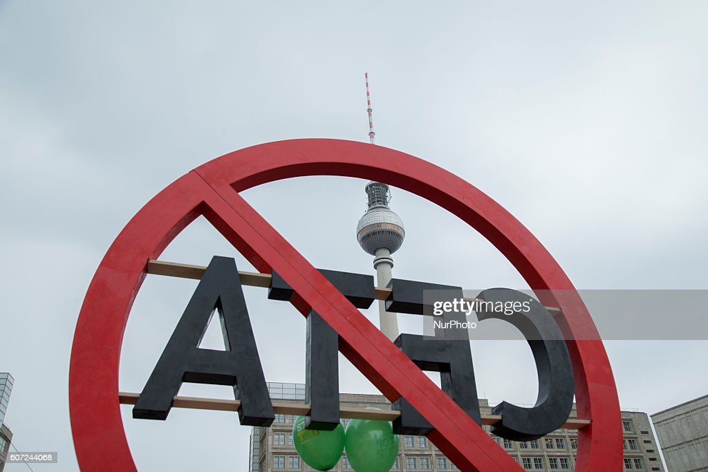 Protest against ttip and ceta trade agreements photos and images a symbol against the ceta trade agreement is pictured in alexanderplatz in berlin germany on platinumwayz