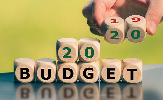 Symbol for the 2020 Budget. 1160853015